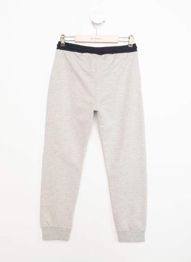 DeFacto Elastik Belli Baskılı Slim Fit Jogger Pantolon Gri